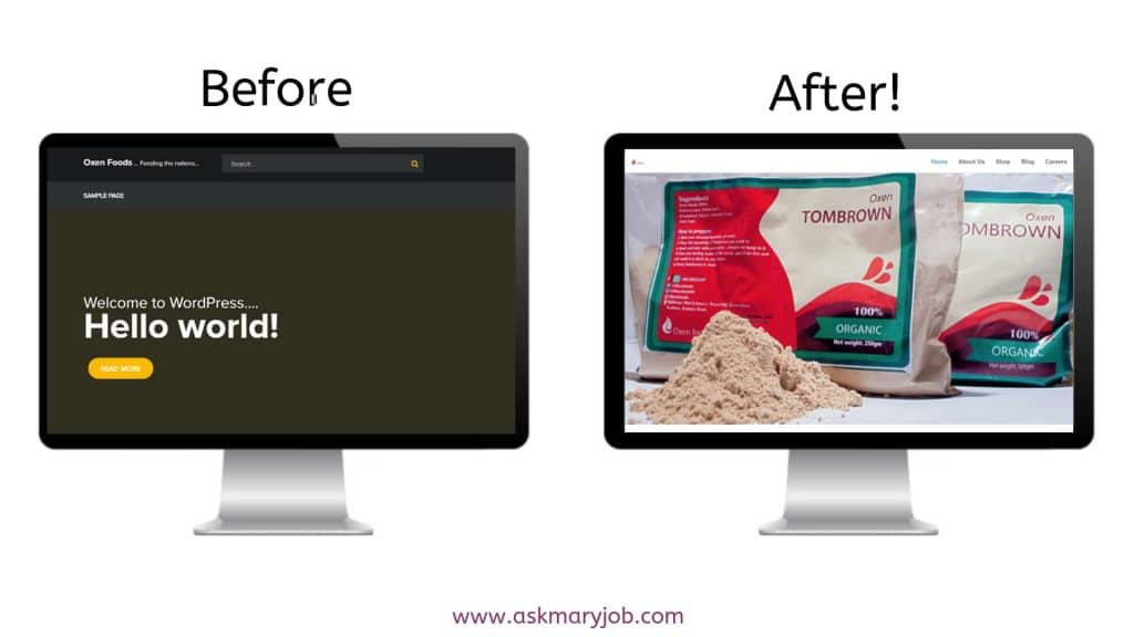 Before and After - Website Design - How Do You Tech